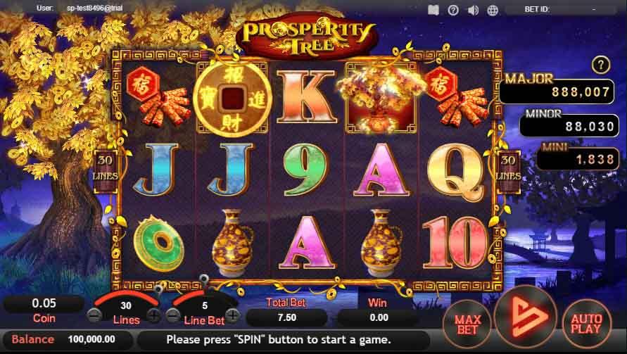 สล็อตออนไลน์ Sa Gaming  เกม Prosperity Tree