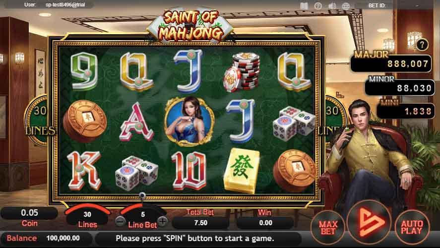สล็อตออนไลน์ Sa Gaming  เกม Saint Of Mahjong