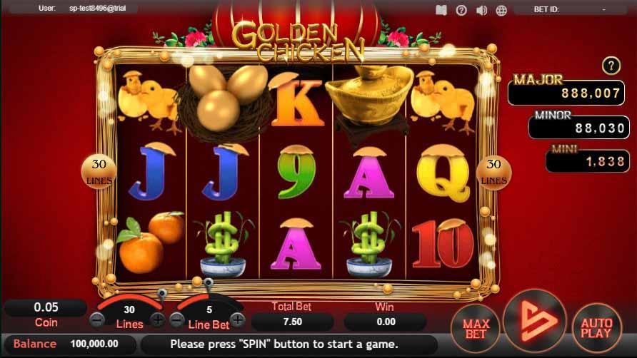 สล็อตออนไลน์ Sa Gaming  เกม Golden Chicken