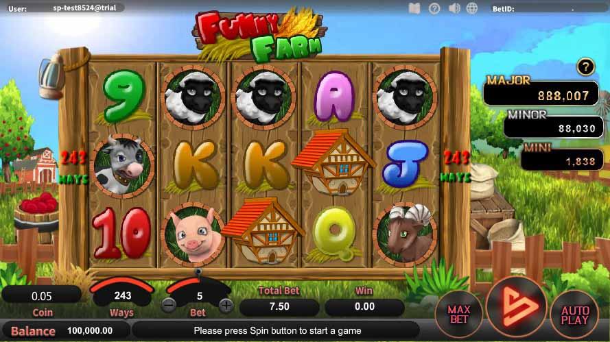 สล็อตออนไลน์ Sa Gaming  เกม Funny Farm