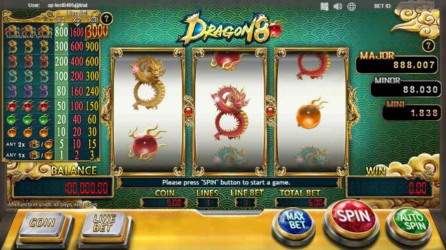 สล็อตออนไลน์ Sa Gaming  เกม Dragon8