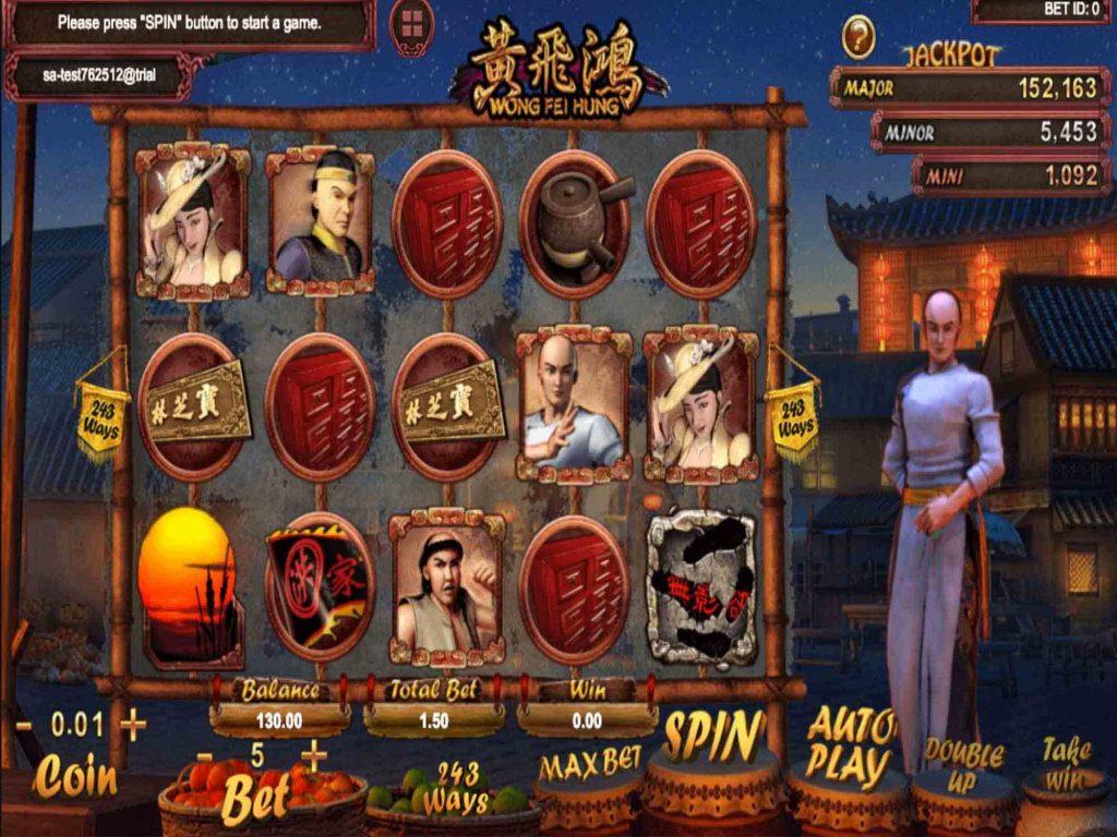 สล็อตออนไลน์ Sa Gaming  เกม Wong Fei Hung