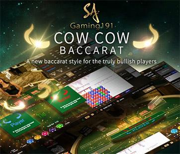 เกมไพ่บาคาร่าวัววัว Baccarat cow cow คาสิโนสด