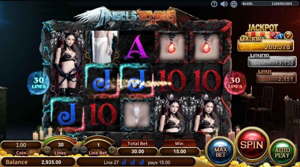สล็อตออนไลน์ Sa Gaming  เกม Angels Demons