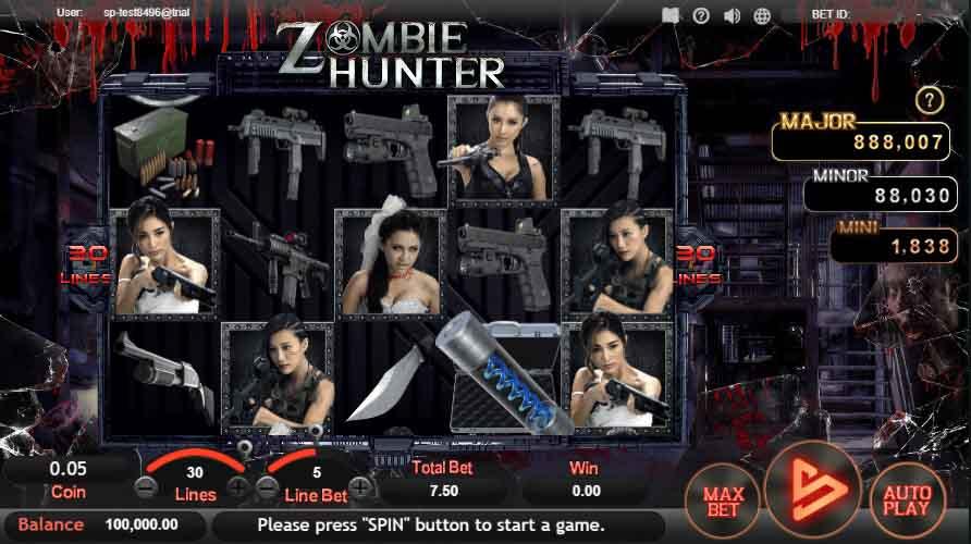 สล็อตออนไลน์ Sa Gaming  เกม Zombie Hunter