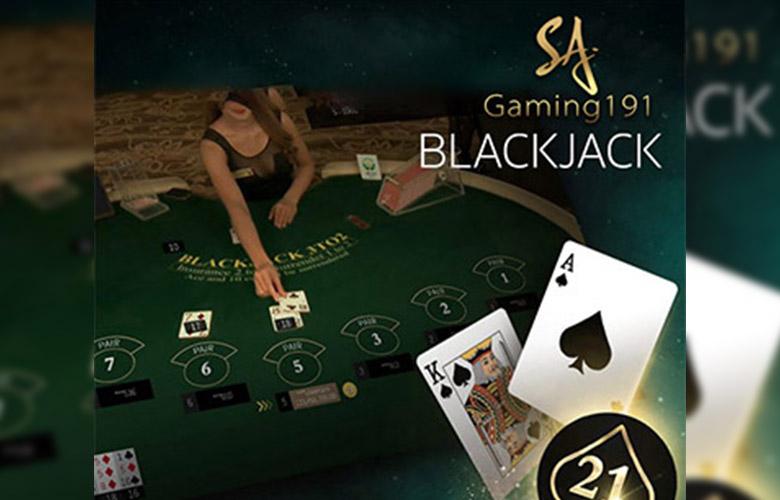 เกมไพ่สามใบ Blackjack คาสิโนสด sa gaming