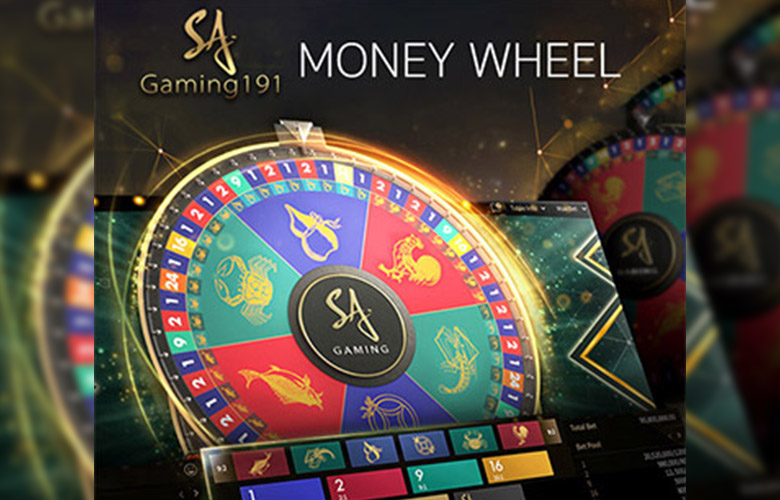 เกมวงล้อมหาโชค Money wheel คาสิโนสด sa gaming
