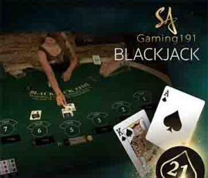 เกมไพ่แบล็คแจ๊ค หรือเกมไพ่สามใบ Sa Gaming